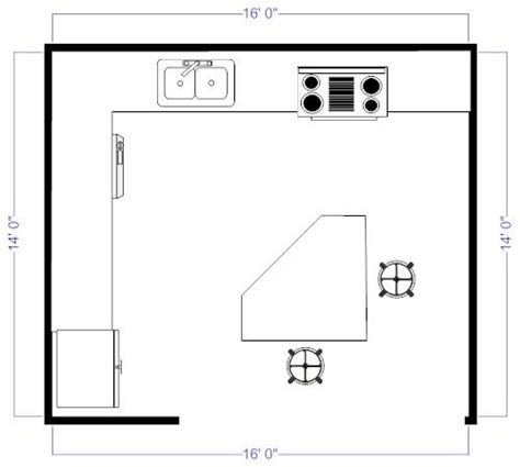 small kitchen floor plans with islands island kitchen floor plan for the home