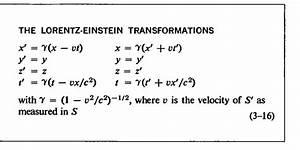 Lorentz Transformation Validity