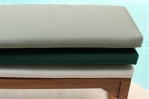 cushion for bench sunbrella 60in backless bench cushion oceanic teak