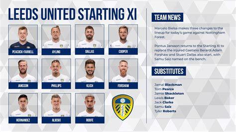 Team Sheet | Leeds united, Bristol city, Leeds