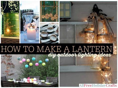 lantern  diy outdoor lighting ideas