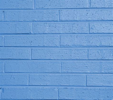 light blue painted brick wall background image wallpaper
