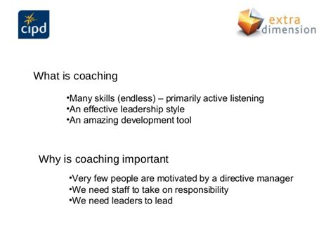 cipd coaching  managers