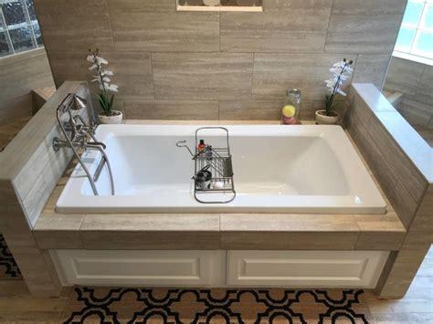Tub In Shower - walk through shower soaker tub bathroom reno buck the