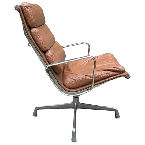 Eames Soft Pad Lounge Chair by Herman Miller Eames Aluminum Soft Pad Lounge Chair