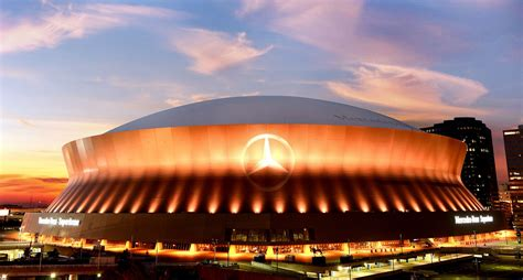 The domed stadium was conceived by local sports. Parking At The Mercedes Benz Superdome - Angus Mair