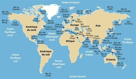 Carte Des Mers Dans Le Monde carte des mers du monde carte 2018