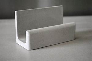 Concrete business card holder business card stand business for Concrete business card holder