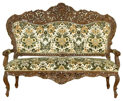 Floral Settee by Consigned Vintage Floral Sofa Chair Settee