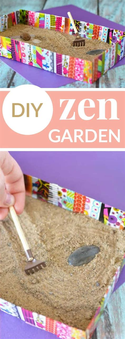 zen garden diy crafts relax dad gifts anxiety adults birthday easy helps help gift