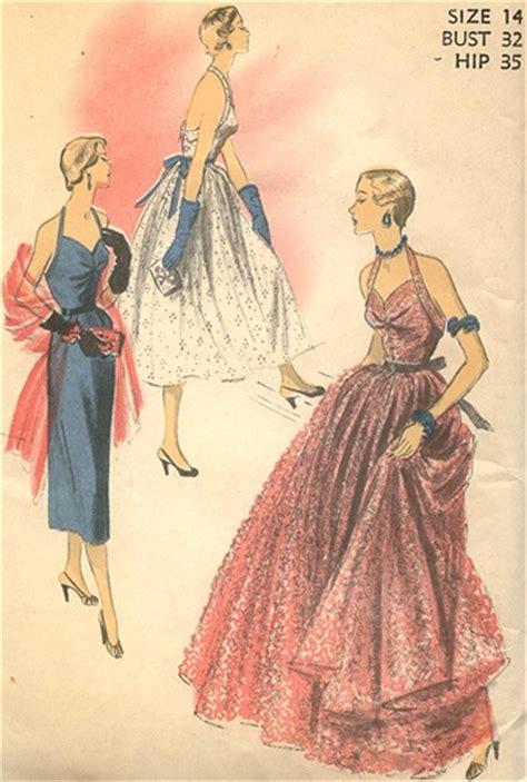 vintage uncut  halter evening dress pattern size