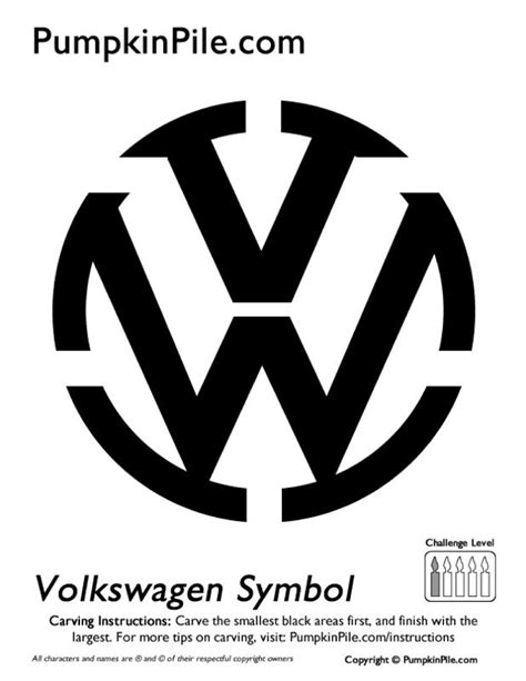 Automotive Pumpkin Carving Patterns  #vw  The Volkswagen