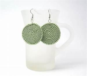 Crochet Pattern For Circle Earrings