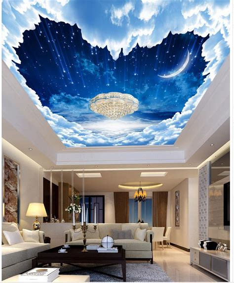 custom  photo wallpaper ceilings fantasy night sky