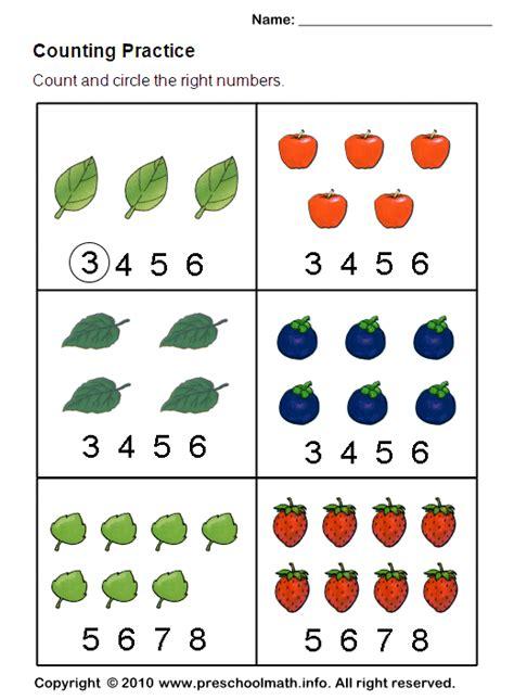 Counting Worksheet  Worksheets 4+  Pinterest  Math, Preschool Math And Printables