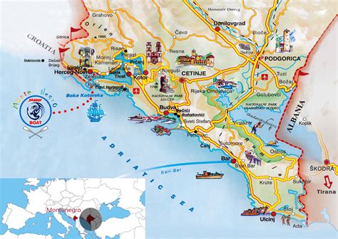 Cyprus map, israel map, jordan map, syria map, turkey map searchable maps of countries in the mediterranean region: BAY OF KOTOR - Dragon Boat Montenegro