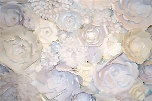 ? mademoiselle meme s paper flower wall