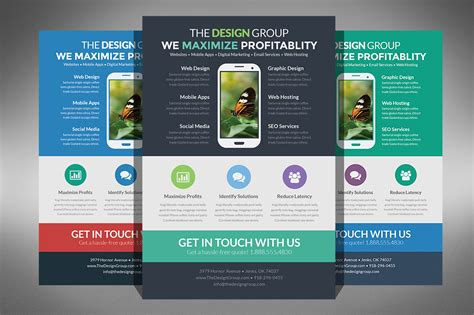 Web Design Brochure Template by Flat Design Business Flyer Flyer Templates On Creative