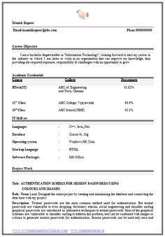 resume format for mba finance fresher 1 career