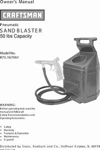 Craftsman 875167061 User Manual Sand Blaster Manuals And