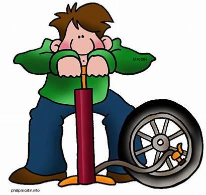 Pump Clipart Tire Bike Repair Panda