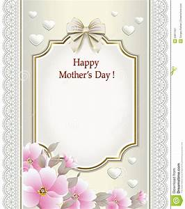 Happy Mother'S Day stock vector. Image of celebration ...