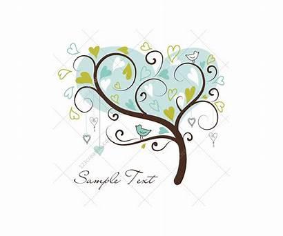 Valentine Vectors Hearts Trees Tree Vector Graphic