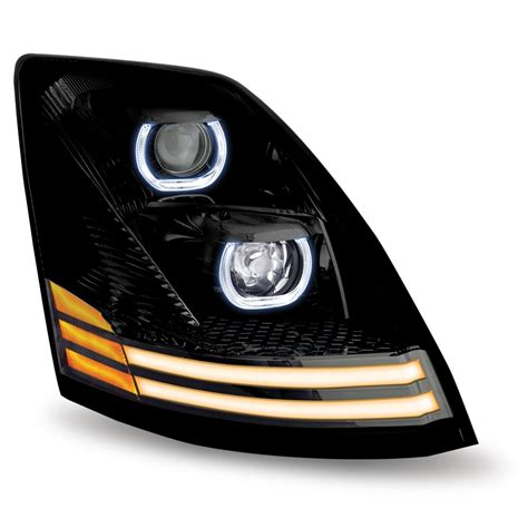 Led Headlights by Volvo Vn Vnl Black Led Projector Headlight Assembly