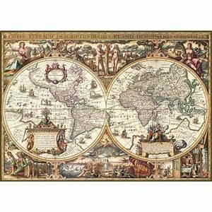 Carte Du Monde Bois : carte du monde ancienne trait bois jouets activit s cr atives 13 ans et plus cultura ~ Nature-et-papiers.com Idées de Décoration