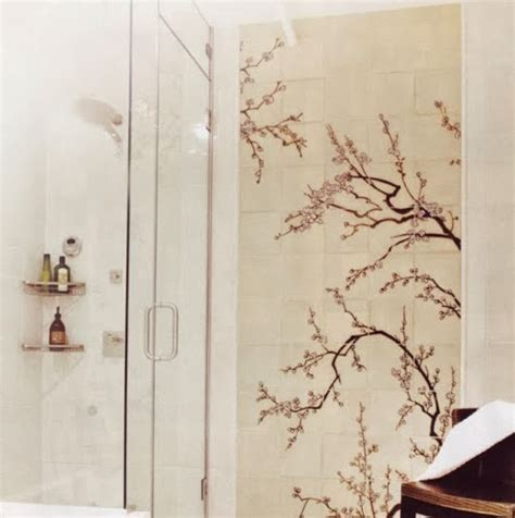 Cherry Blossom Curtain Material by Cherry Blossom Fabric Shower Curtain With