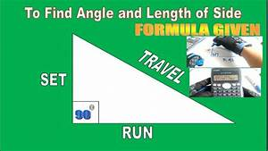 How To Find Angle Length Of Side Using Formula
