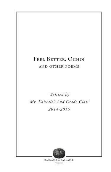 "Field Trip Book Of The Week ""feel Better, Ocho! & Other"