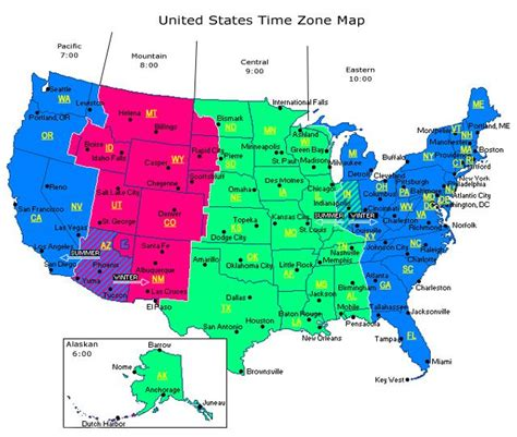 eastern accents map of zones in america truck drivers are on