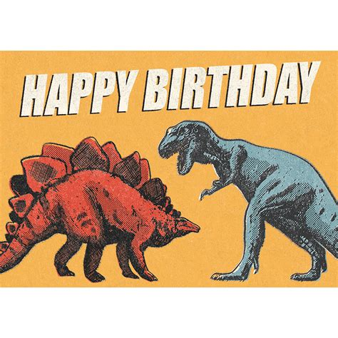 prehistoric land dinosaur birthday card rex london