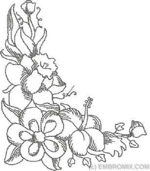 flowers corner zentangles   inspirations