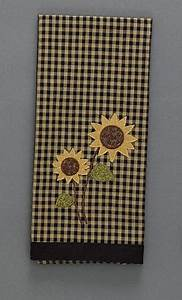 Sunflower Check Decorative Kitchen Hand Towel Dishtowel