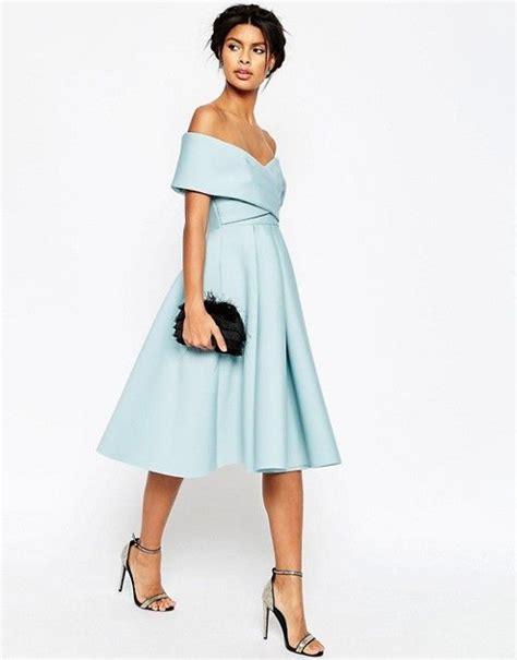 schulterfreies neopren midikleid asos vintage kleider