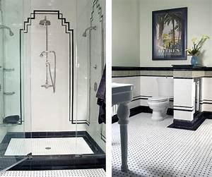 art deco bathroom With art deco black and white bathroom