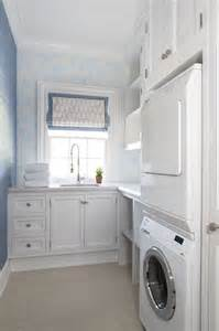 Stacked Washer and Dryer Laundry Room Cabinets