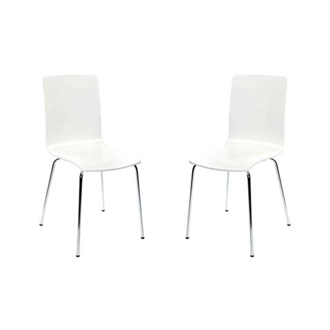 chaises blanches design lot de 2 chaises design cuisine blanches nelly achat