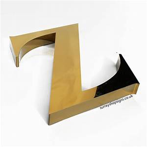 3d polished gold stainless steel shop sign letters With 3d metal letters