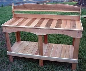 PDF DIY Cedar Potting Table Download chair plans free