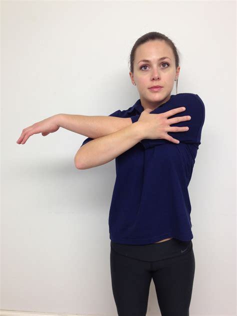 posterior shoulder stretch  physiotherapy fitness