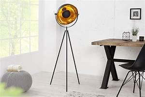 Stehlampe Retro Design : stehlampe stehleuchte cinema 140cm schwarz gold retro design lampe spotlampe ebay ~ Bigdaddyawards.com Haus und Dekorationen