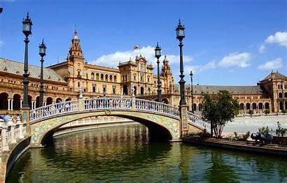 Sevilla Spain Plaza Architecture Desktop Espana Palace