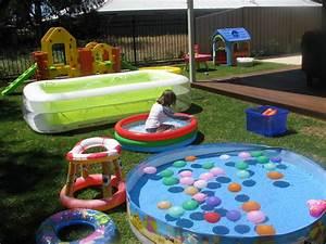 Back Yard Water Park   Learning 4 Kids