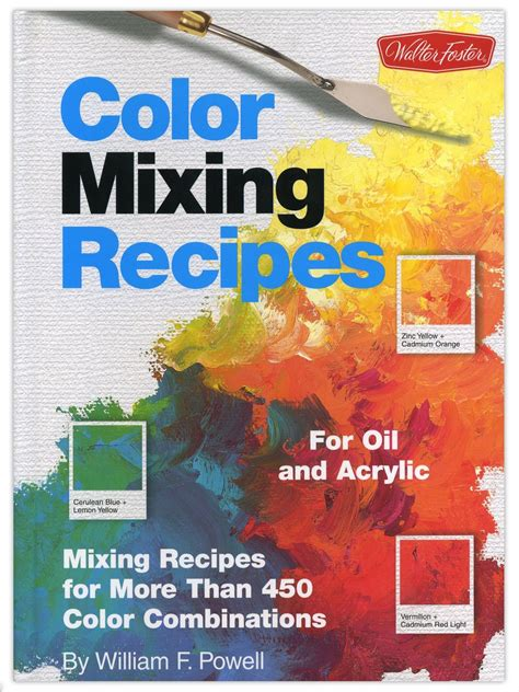 color mixing recipes for and acrylic misterart