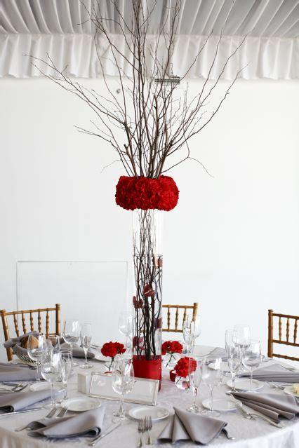 inexpensive tall reception centerpieces weddingbee photo