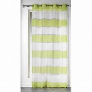 Voilage Vert D Eau : voilage 140 x h240 cm samoa vert rideau voilage store eminza ~ Dode.kayakingforconservation.com Idées de Décoration