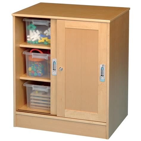 Buy Medium Beech Lockable Storage Cupboard Tts